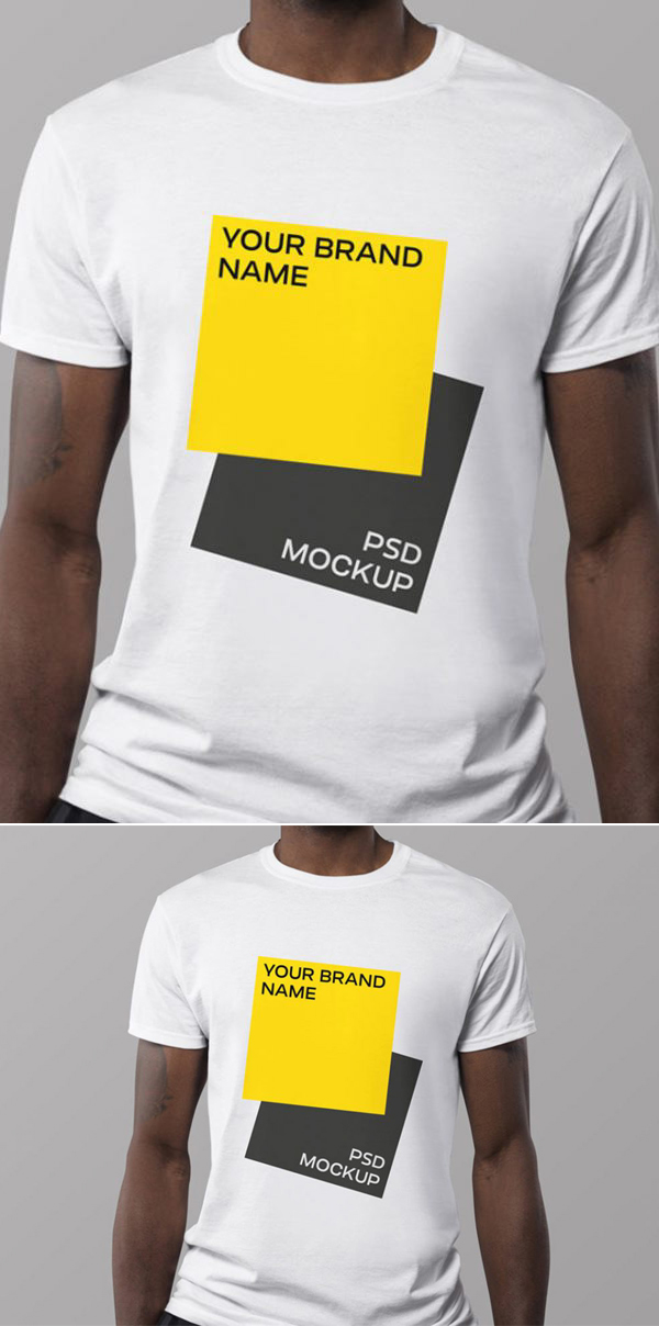 Maquette de t-shirt PSD gratuite minimale