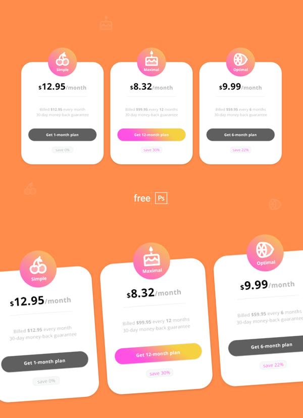Modèle PSD de tableau de prix gratuit