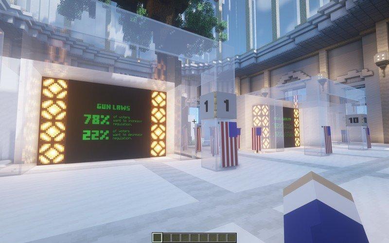 Minecraft Construisez le vote