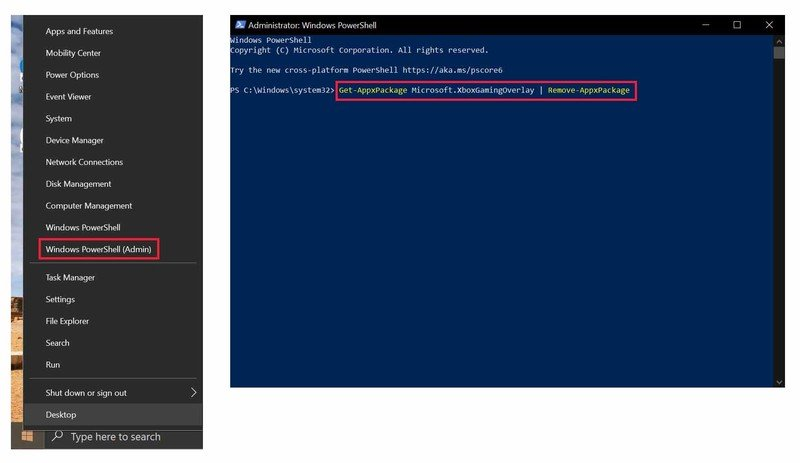 Cliquez sur Windows PowerShell (Admin).  Tapez la commande et appuyez sur Entrée.