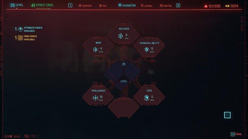 Présentation des attributs Cyberpunk 2077