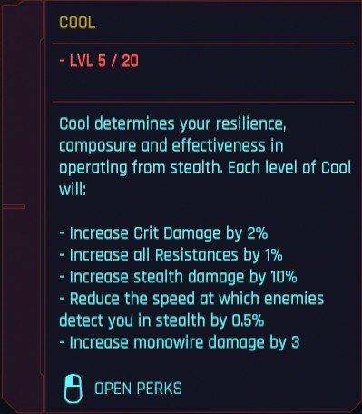 Attributs Cyberpunk 2077 Détails sympas