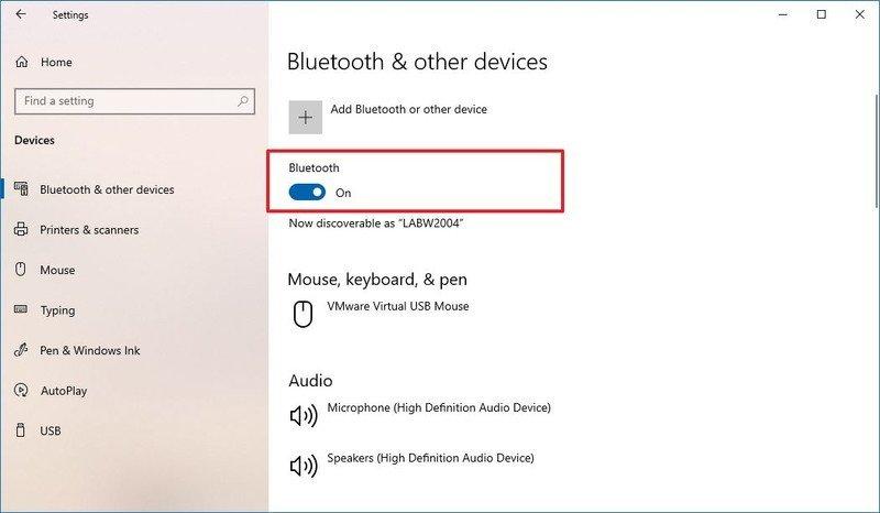 Windows 10 confirme l'adaptateur Bluetooth
