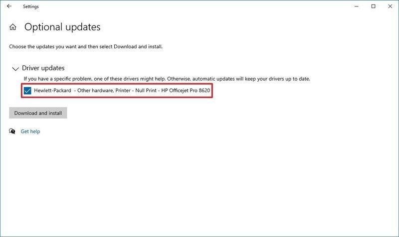 Pilotes d'installation de Windows Update