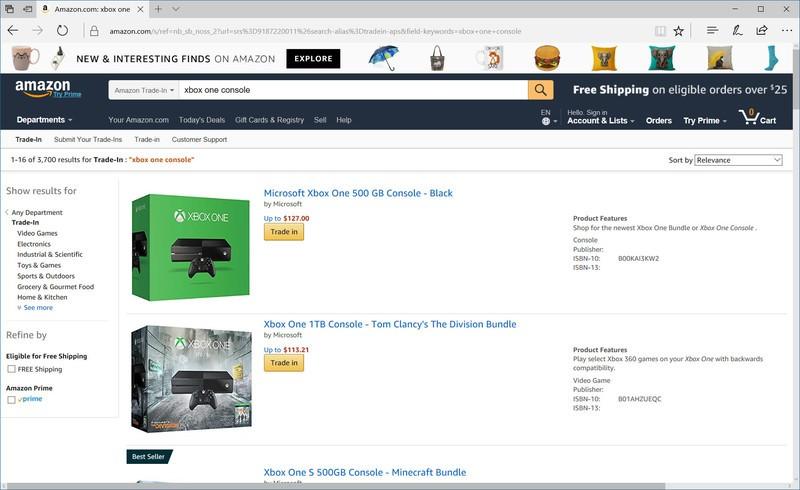 Xbox One Amazon