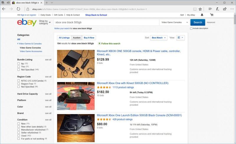 Xbox One eBay