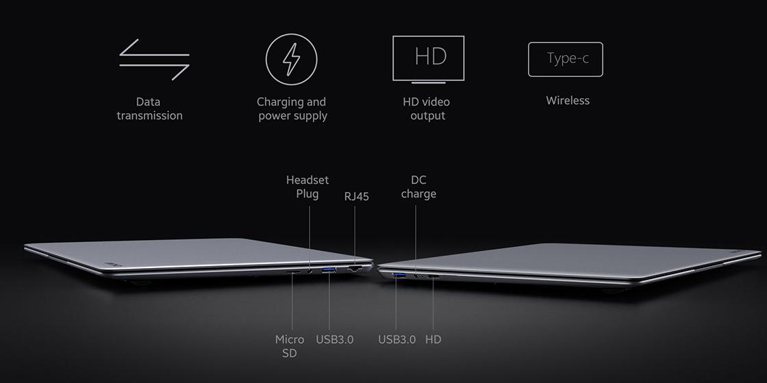 CHUWI HeroBook Plus - Ports