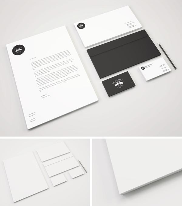 Maquette PSD de papier de marque gratuite