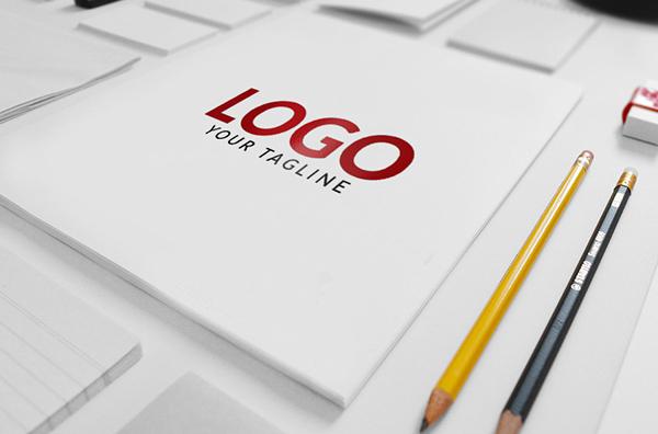 Maquette PSD de marque / logo