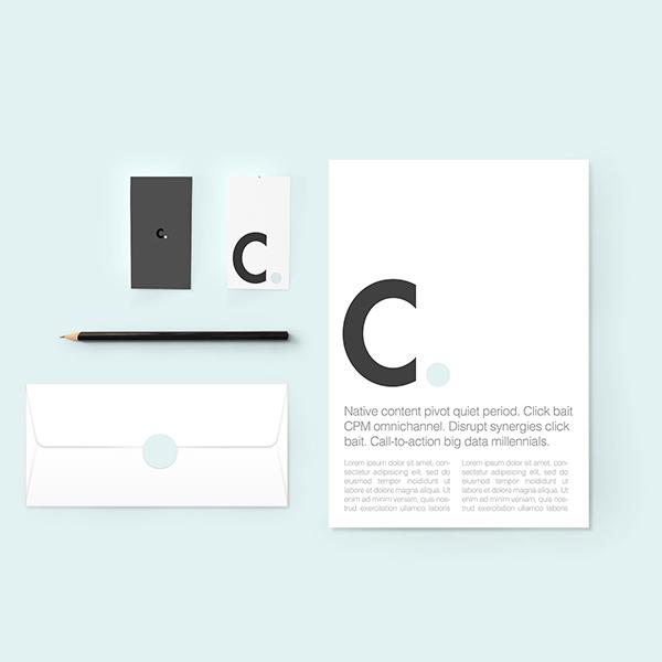 Maquette d'identité ou de marque minimaliste gratuite