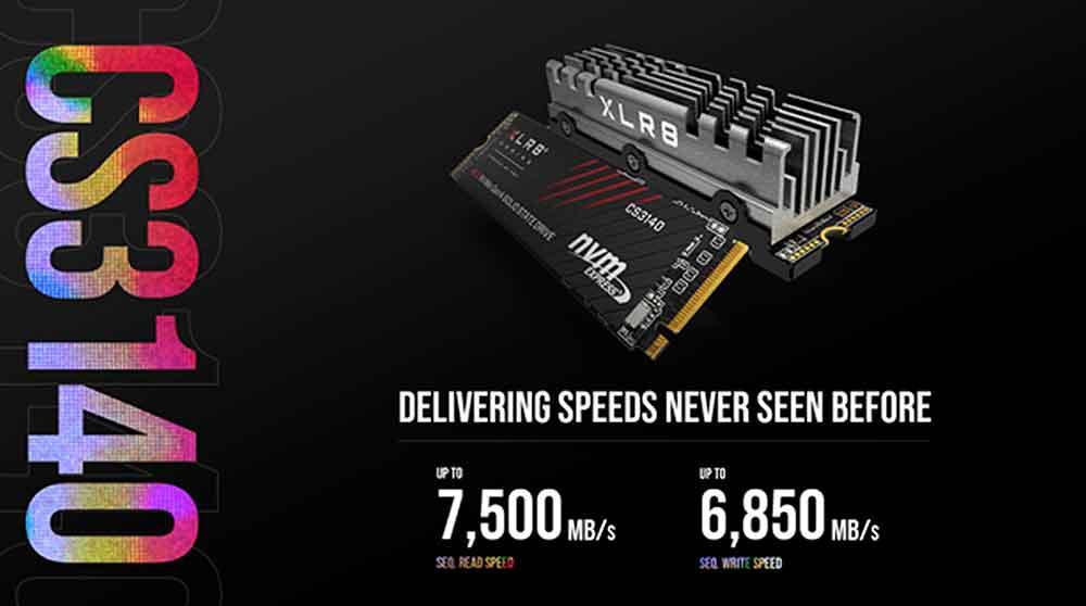 PNY XLR8 CS3140 - Un SSD NVMe M.2 Gen4 qui atteint 7500 Mo par seconde