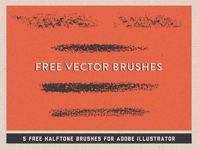 Brosses vectorielles en demi-teintes GRATUITES