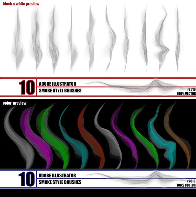 Pack de pinceaux illustrateur de fumée