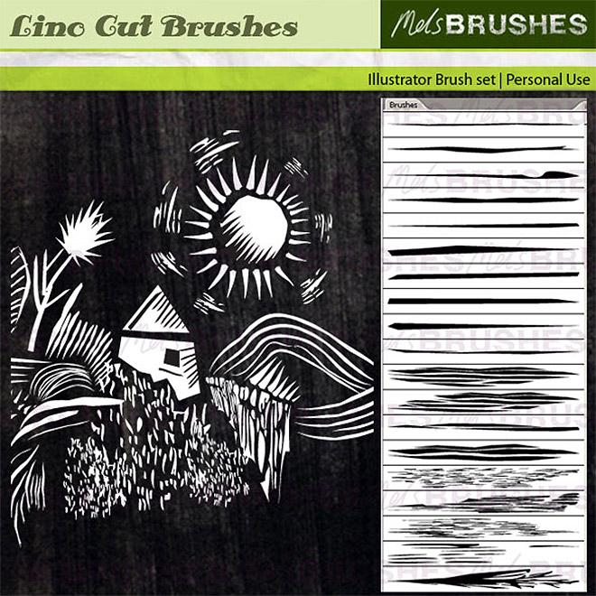 Pinceaux de coupe de lin gratuits pour Illustrator